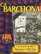 FC BARCELONA v HULL CITY, Les Corts Stadium 03/06/1951 official programme